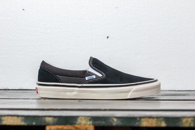 vans anaheim slip on black