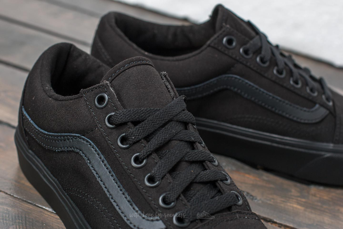 Vans Old Skool Lite (Canvas) Black Black | Footshop