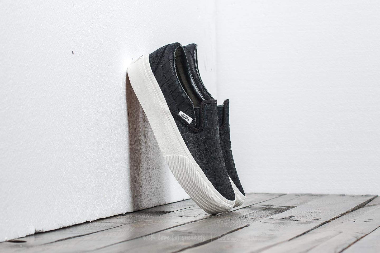 vans classic slip on platform black