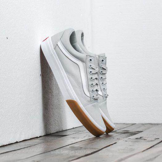 Vans Old Skool (Gum Bumper) Glacier Grey True White | Footshop