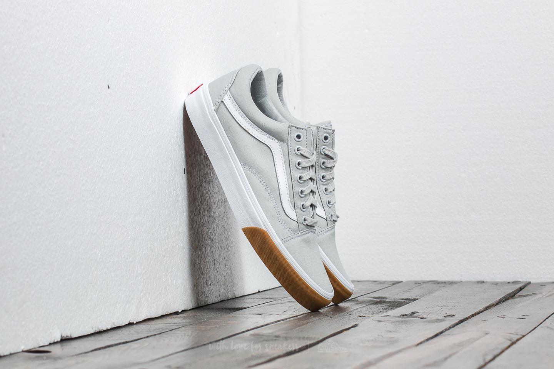 9c6f0083a96 Vans Old Skool (Gum Bumper) Glacier Grey  True White