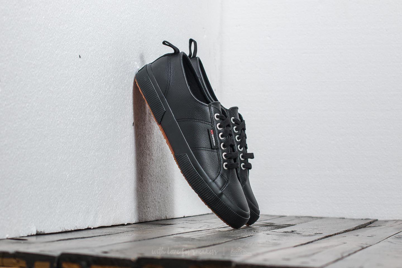 Pánské tenisky a boty Superga 2750 Full Grain Leather Full Black