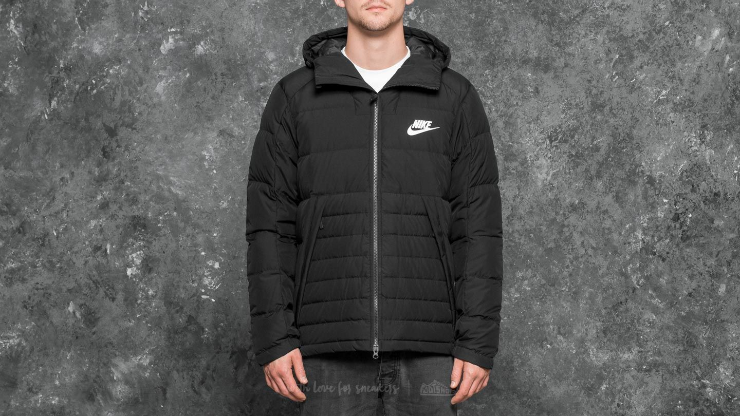 590ef0c8c240 Nike Sportswear Down Hill Hoodie Jacket Black  White