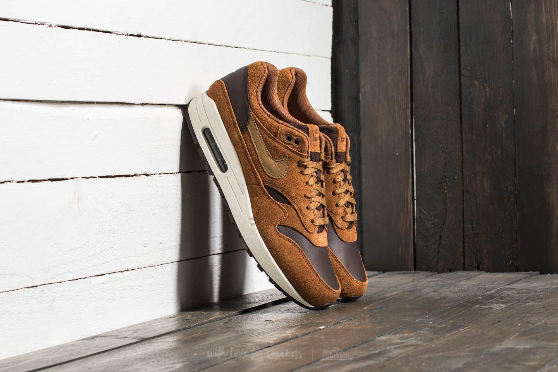 Nike Air Max 1 Premium Leather Ale Brown/ Golde Beige