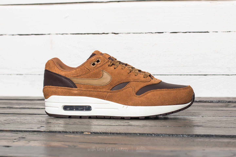 Nike Air Max 1 Premium Leather Ale Brown Golde Beige