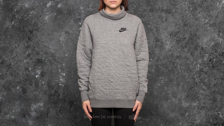 Nike Sportswear FNL Quilt Sweat Medium Grey Heather