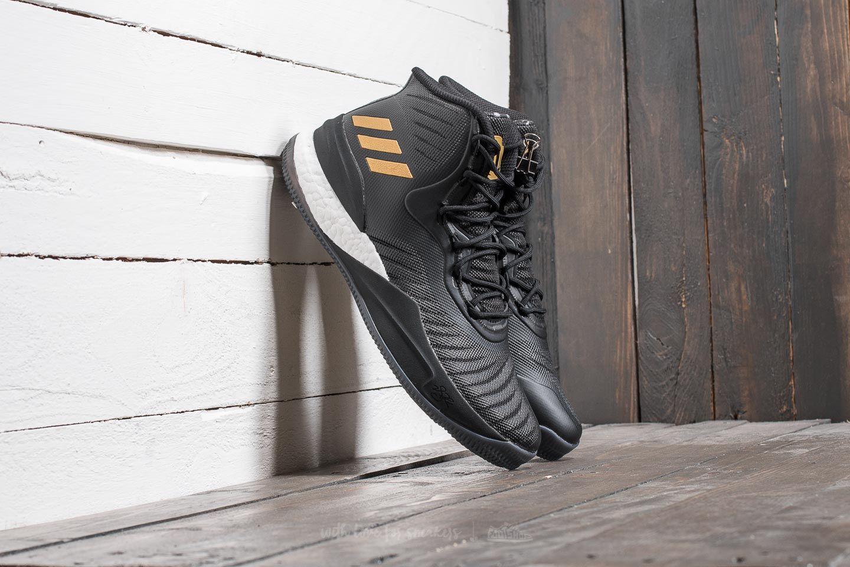 f38a9daf37ff adidas D Rose 8 Core Black  Gold Metalic  Ftw White