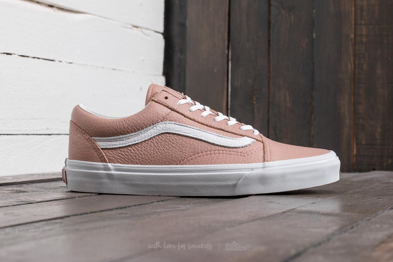 Vans Old Skool DX (Tumble Leather) Mahogany Rose-True White | Footshop