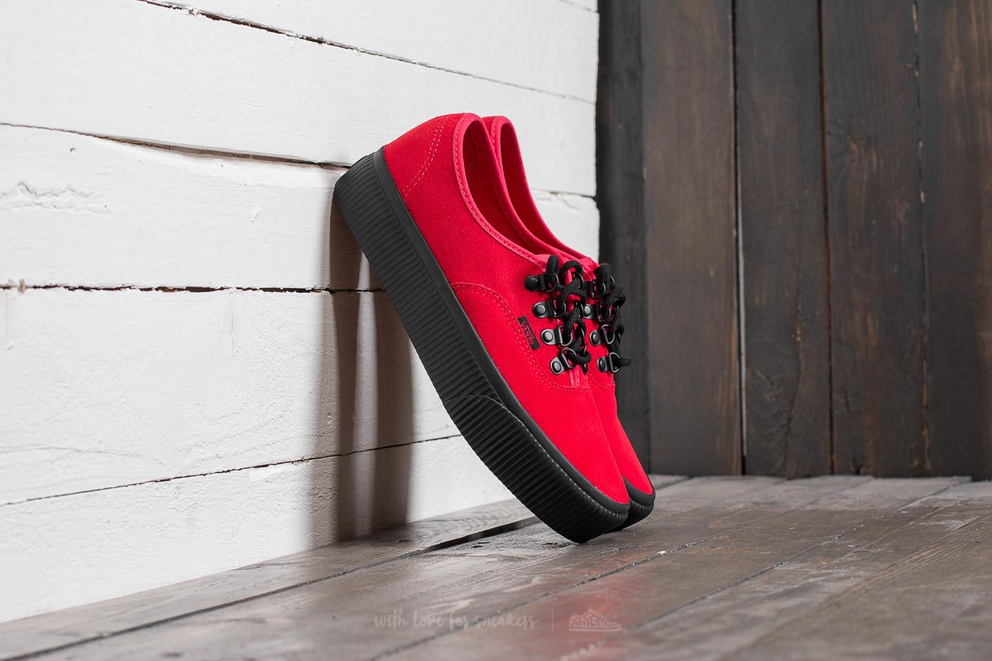 3a32615f868 Vans Authentic Platform (Embossed) Rococco Red  Black