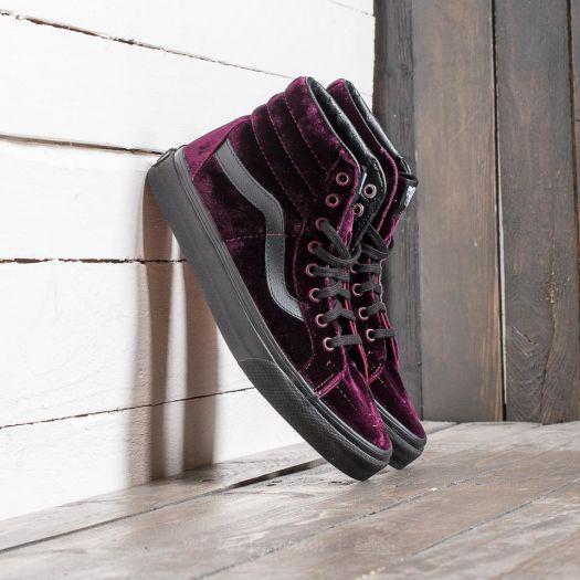 shoes Vans Sk8-Hi Reissue (Velvet) Red
