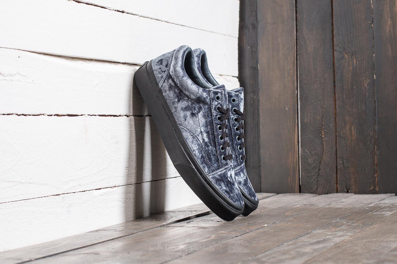 04b6d7969c Vans Old Skool (Velvet) Gray  Black