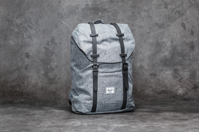 e4583451f3c9 Herschel Supply Co. Retreat Backpack Mid-Volume Scattered Raven Crosshatch