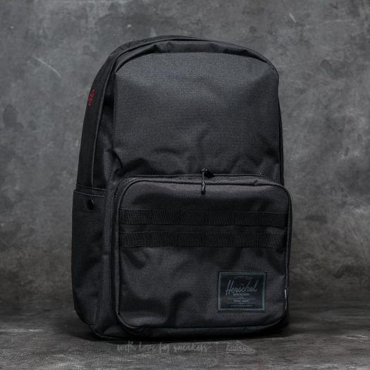 Herschel Supply Co. Independent Pop Quiz BackpackBlack Logo Print