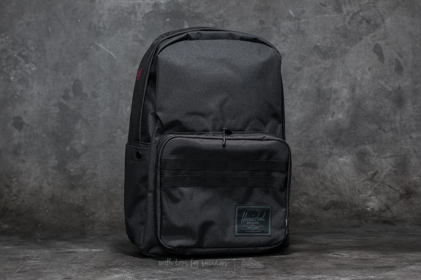 81ba9753f633 Herschel Supply Co. Independent Pop Quiz Backpack Black  Logo ...