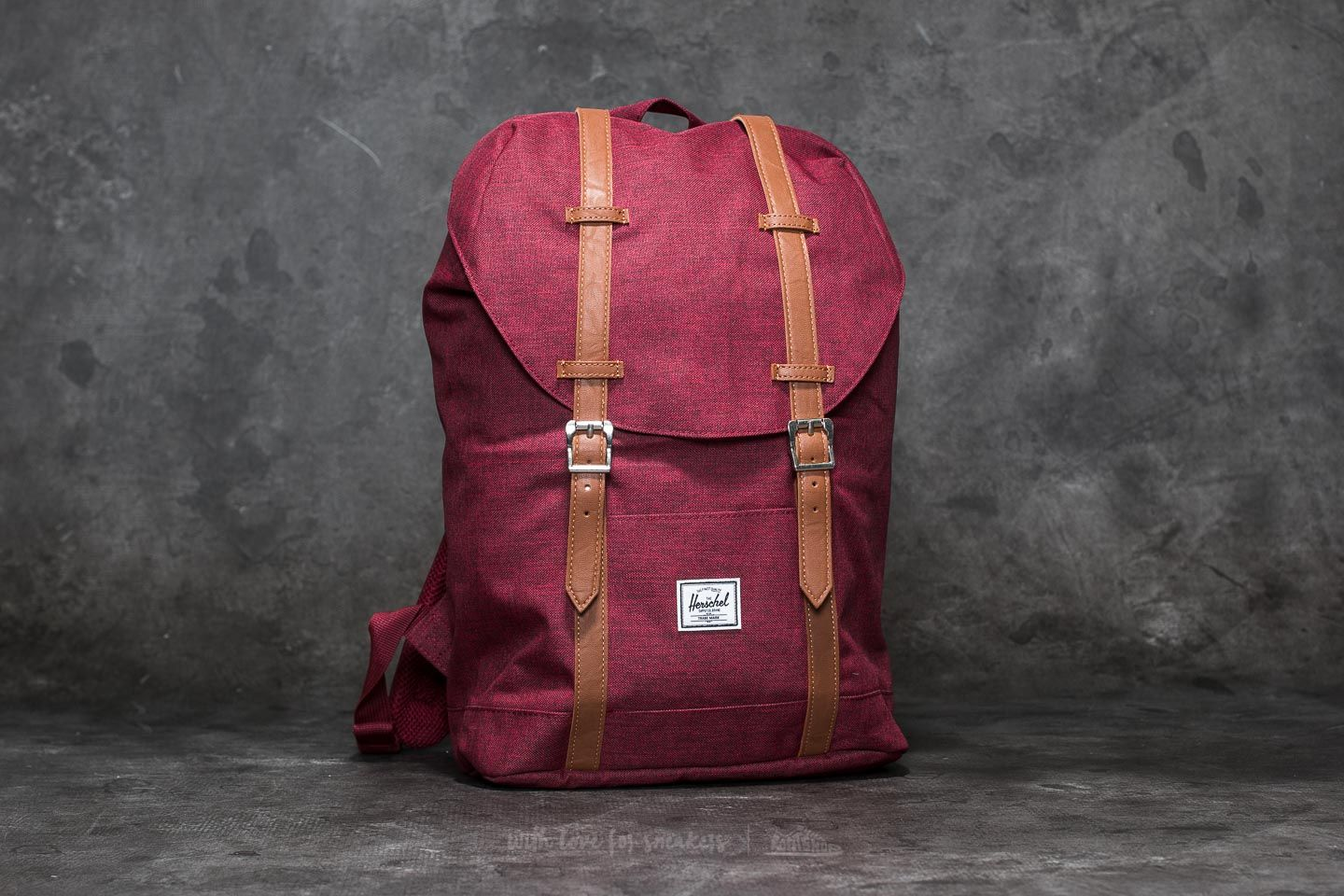 7784cf97b79b Herschel Supply Co. Retreat Mid-Volume Backpack. Winetasting Crosshatch  Tan  Synthetic Leather