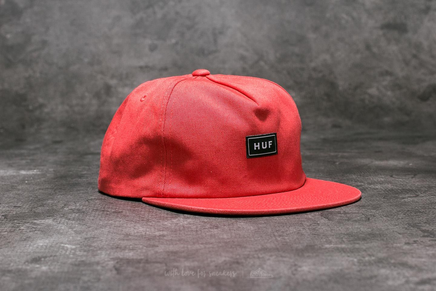HUF Apparel Cap Bar Logo Snapback Rose