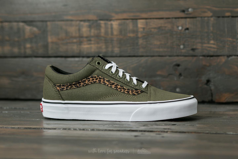 Schuhe | Kinder Low Tops Vans Old Skool Leopard Schwarz