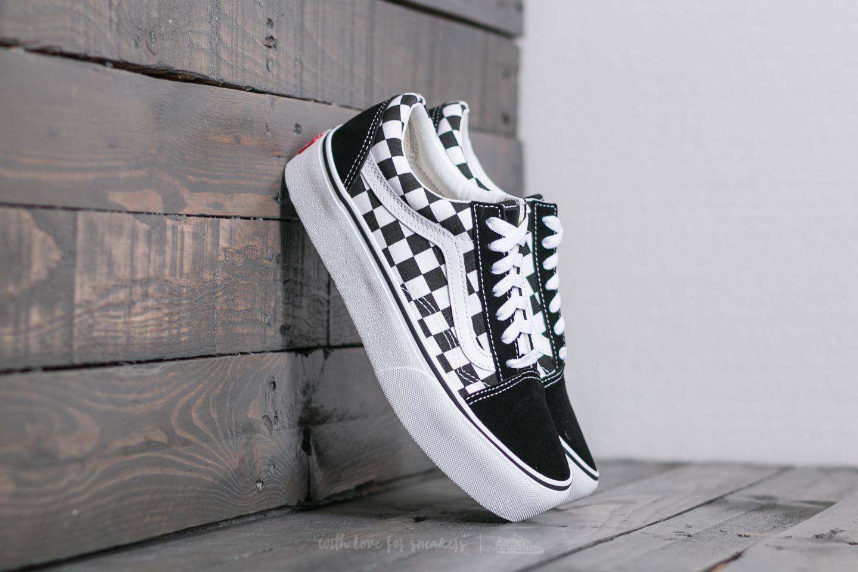 Vans Old Skool Platform Checkerboard Black True White Footshop