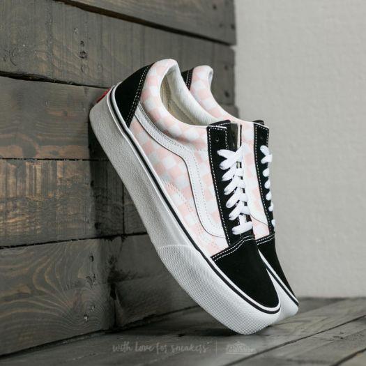 Vans Old Skool Platform (Checkerboard) Black Pink Checkerboard | Footshop