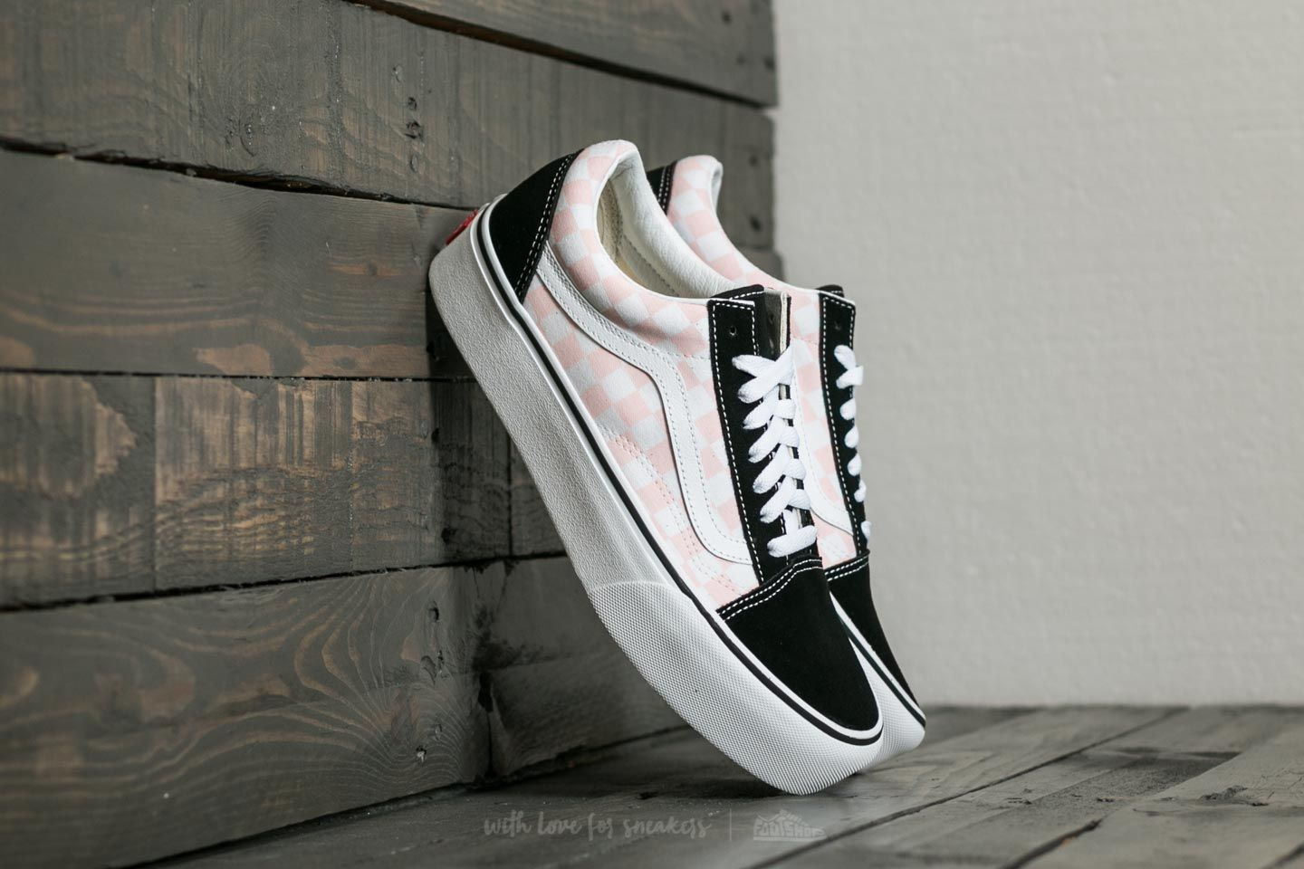 879e4440f37 Vans Old Skool Platform (Checkerboard) Black  Pink Checkerboard ...