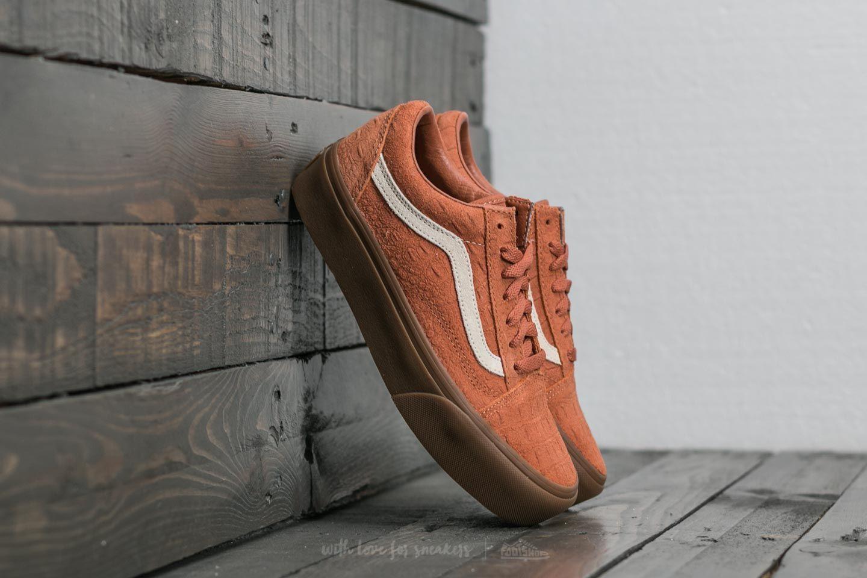 Vans Old Skool Platform (Croc Suede) Amber Brown Gum | Footshop