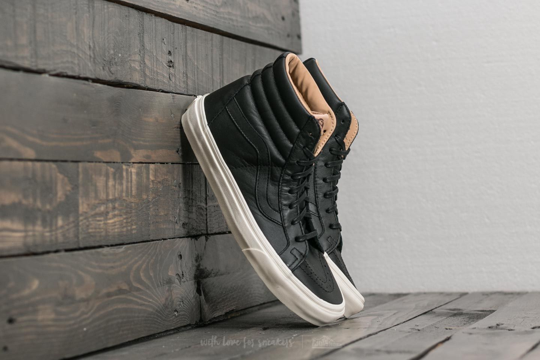 Vans Sk8-Hi Reissue (Lux Leather) Black  Porcini  77d668034