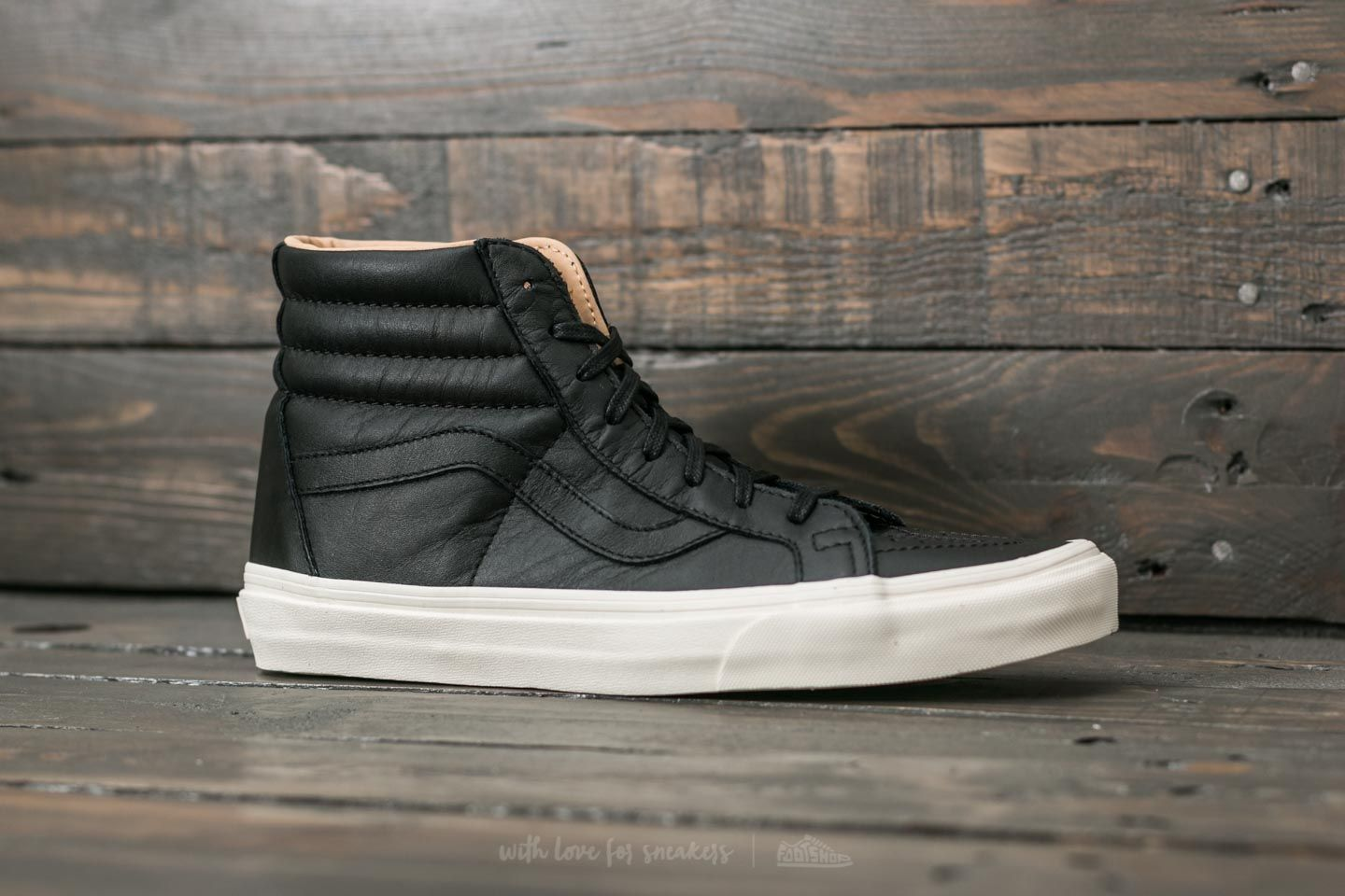 f59a6cbe6b Vans Sk8-Hi Reissue (Lux Leather) Black/ Porcini | Footshop