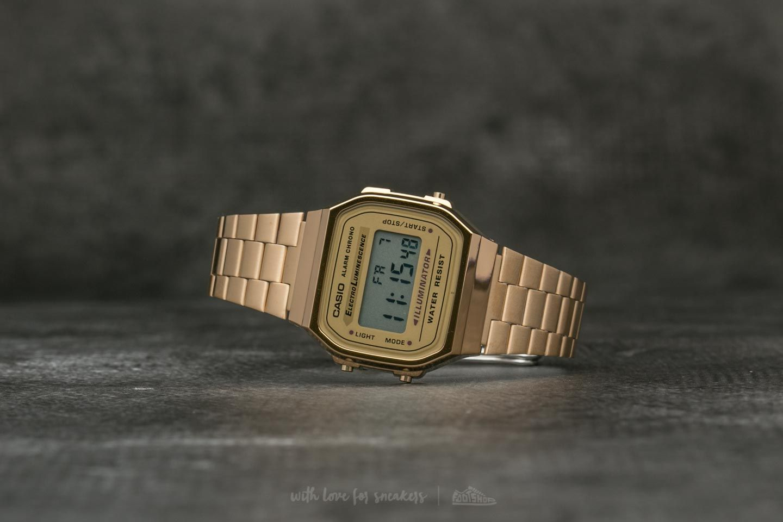 Hodinky Casio A 168G-9 Gold