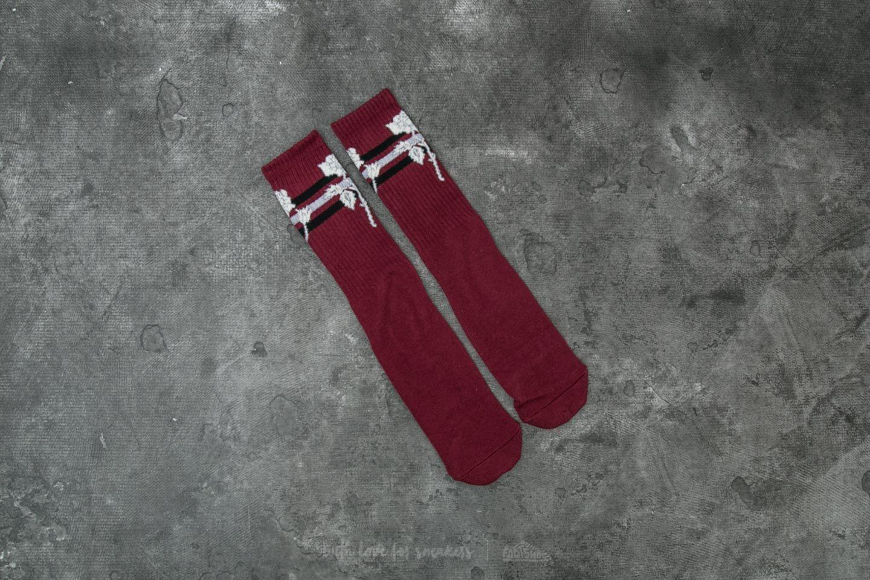 HUF Ambush Rose Socks Maroon za skvělou cenu 479 Kč koupíte na Footshop.cz