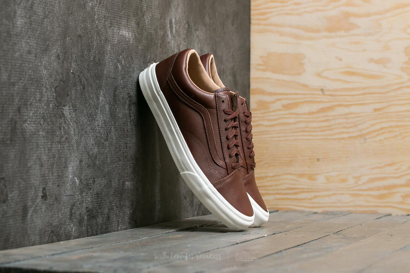 477ebb8cd2 Vans Old Skool (Lux Leather) Chocolate  Porcini