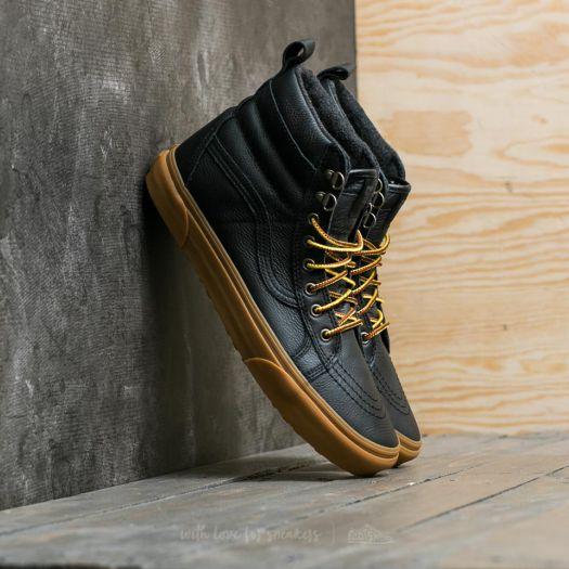 Vans Sk8 Hi (MTE)Black Leather Gum