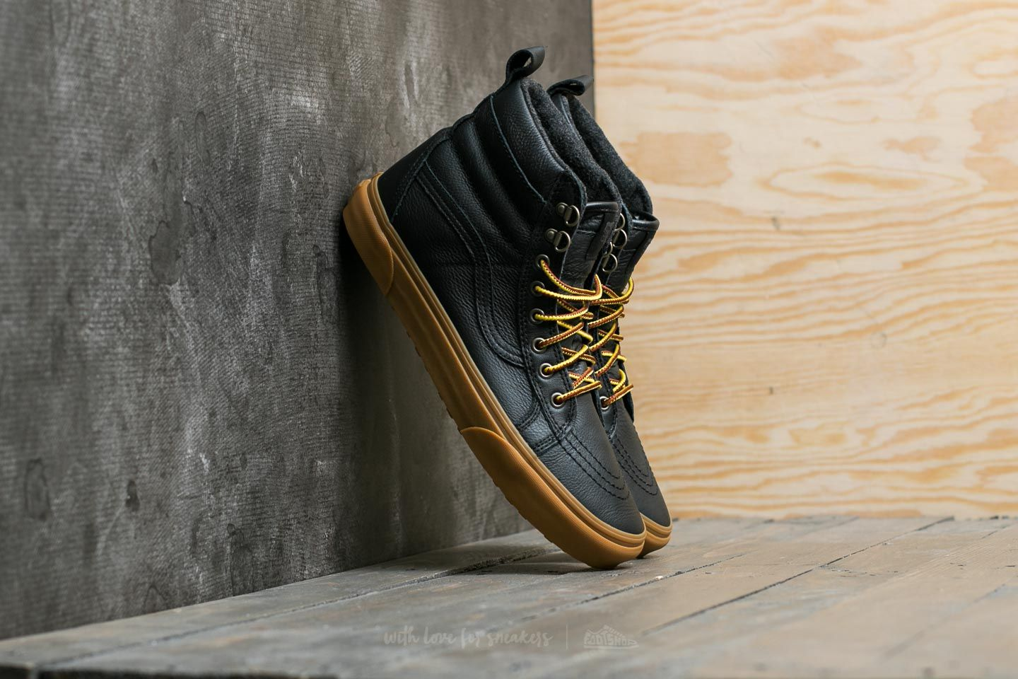 92dda65cb2e3e0 Vans Sk8-Hi (MTE) Black  Leather  Gum
