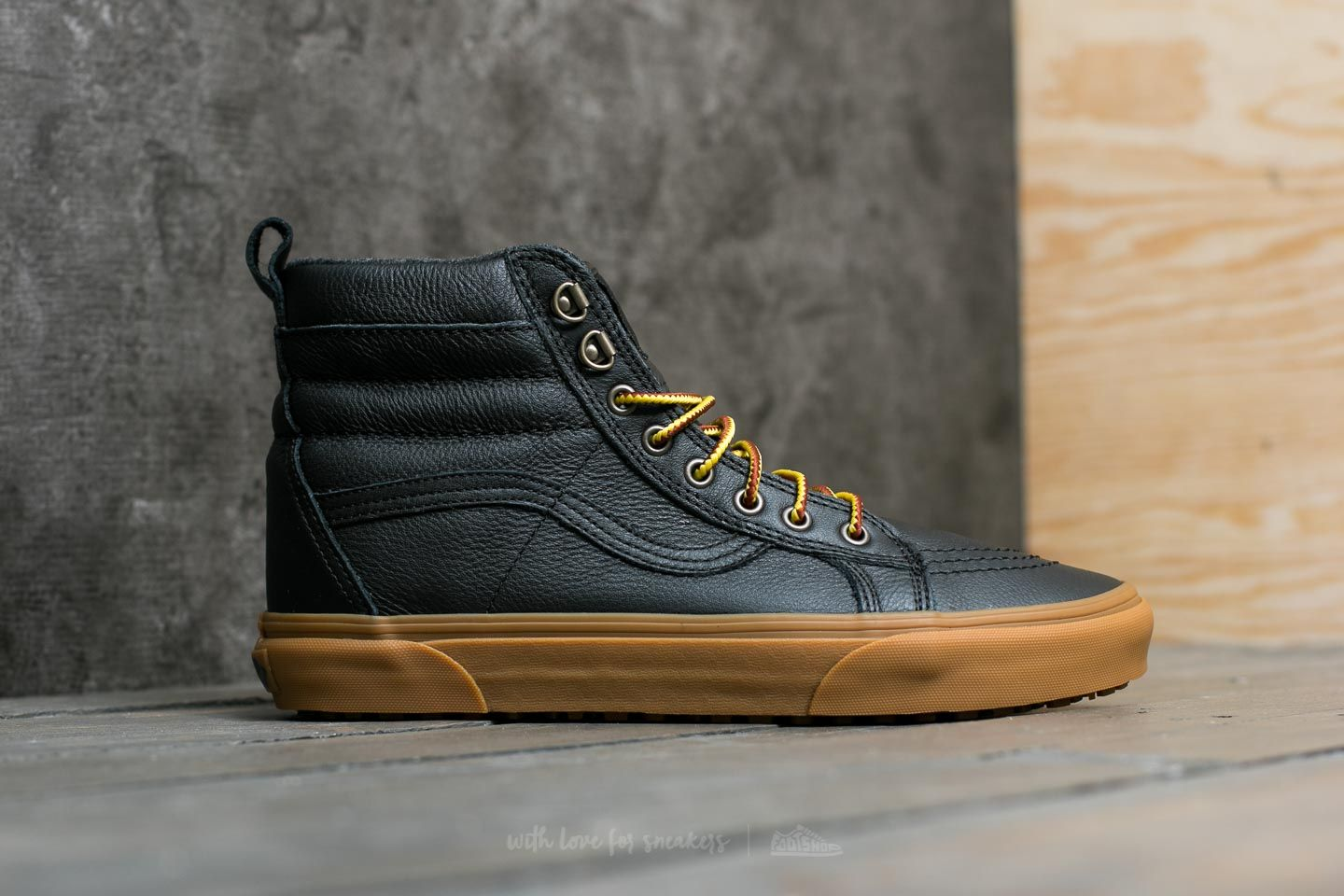 Vans Sk8-Hi (MTE) Black/ Leather/ Gum | Footshop