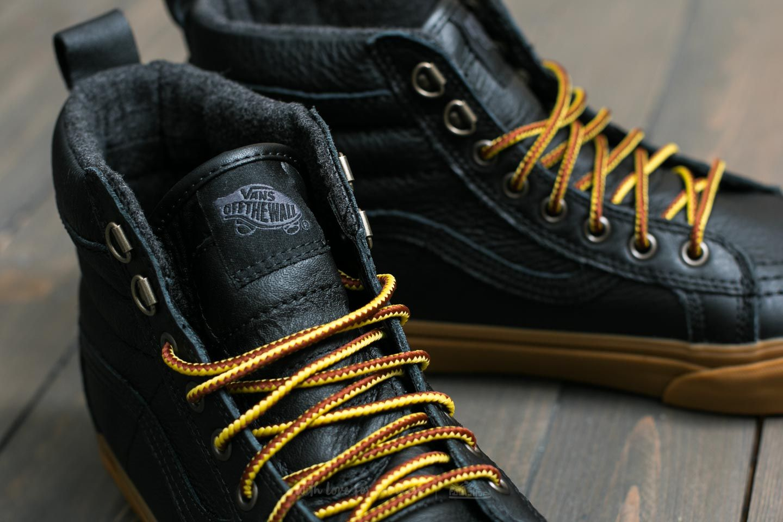 Vans Sk8-Hi (MTE) Black/ Leather/ Gum   Footshop