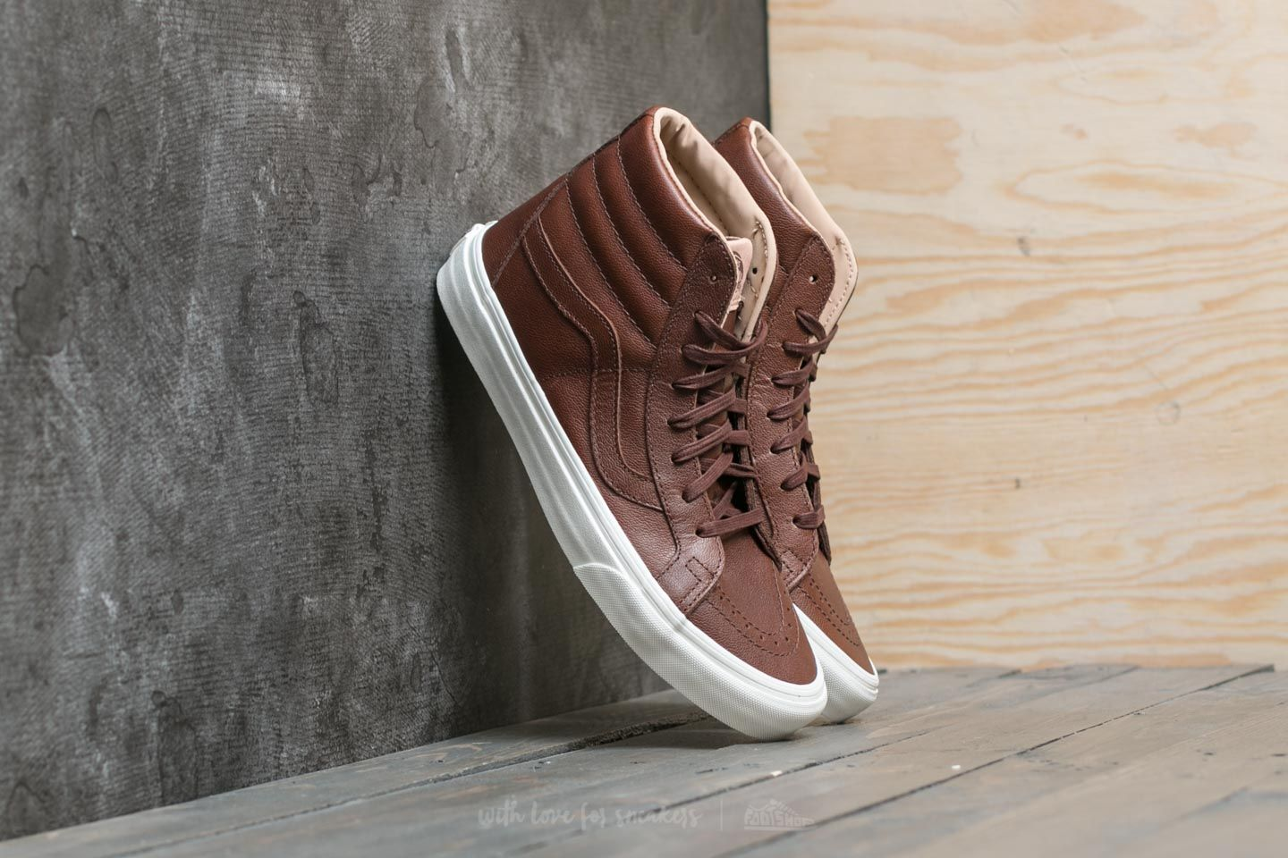 f7bcb204488a Vans Sk8-Hi Reissue (Lux Leather) Chocolate  Porcini