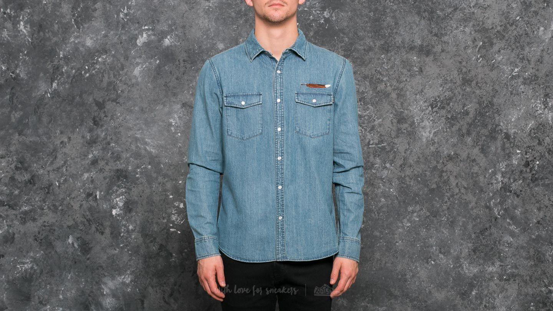 HUF Apparel Woven Wyatt LS Woven Shirt Indigo za skvělou cenu 1 090 Kč koupíte na Footshop.cz