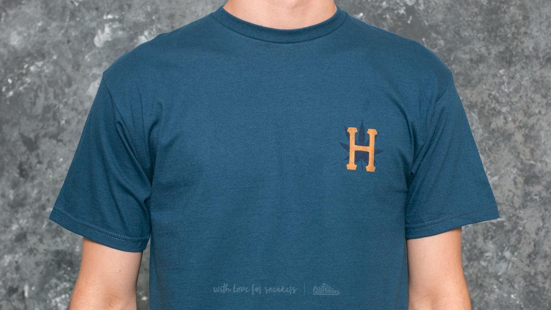 Huf Apparel T Shirt Plp Ss Gold Print Tee Twilight Footshop