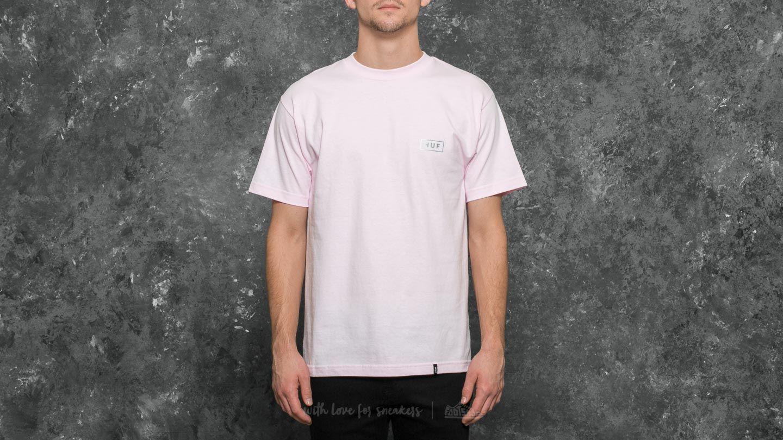 HUF Gradient Bar Logo Tee Pink