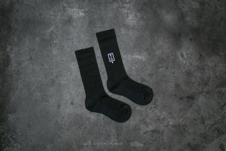 TEAM COZY Box Logo Wool Sock Black