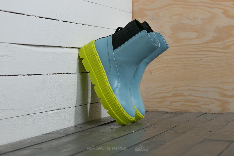 Puma Fenty x Rihanna Chelsea Sneaker Boot Wn´s Sterling Blue  Black  Limeade fbf244aa3