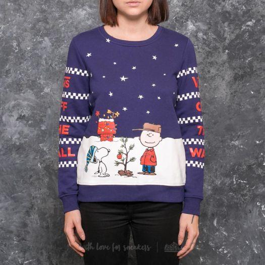 Vans x Peanuts Christmas Crew Neck Blue   Footshop