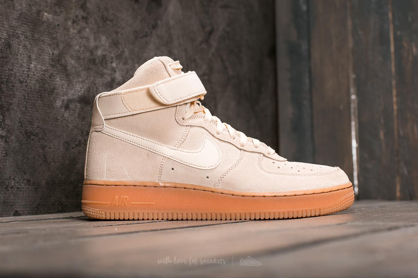 Nike Air Force 1 High ´07 LV8 Suede Muslin Muslin Gum Med Brown | Footshop