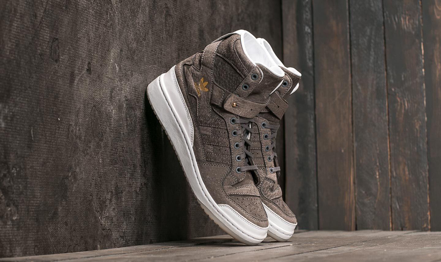"""adidas Forum Hi """"Crafted Pack"""" Supplier Colour/ Ftw White/ Gold Metallic EUR 42"""