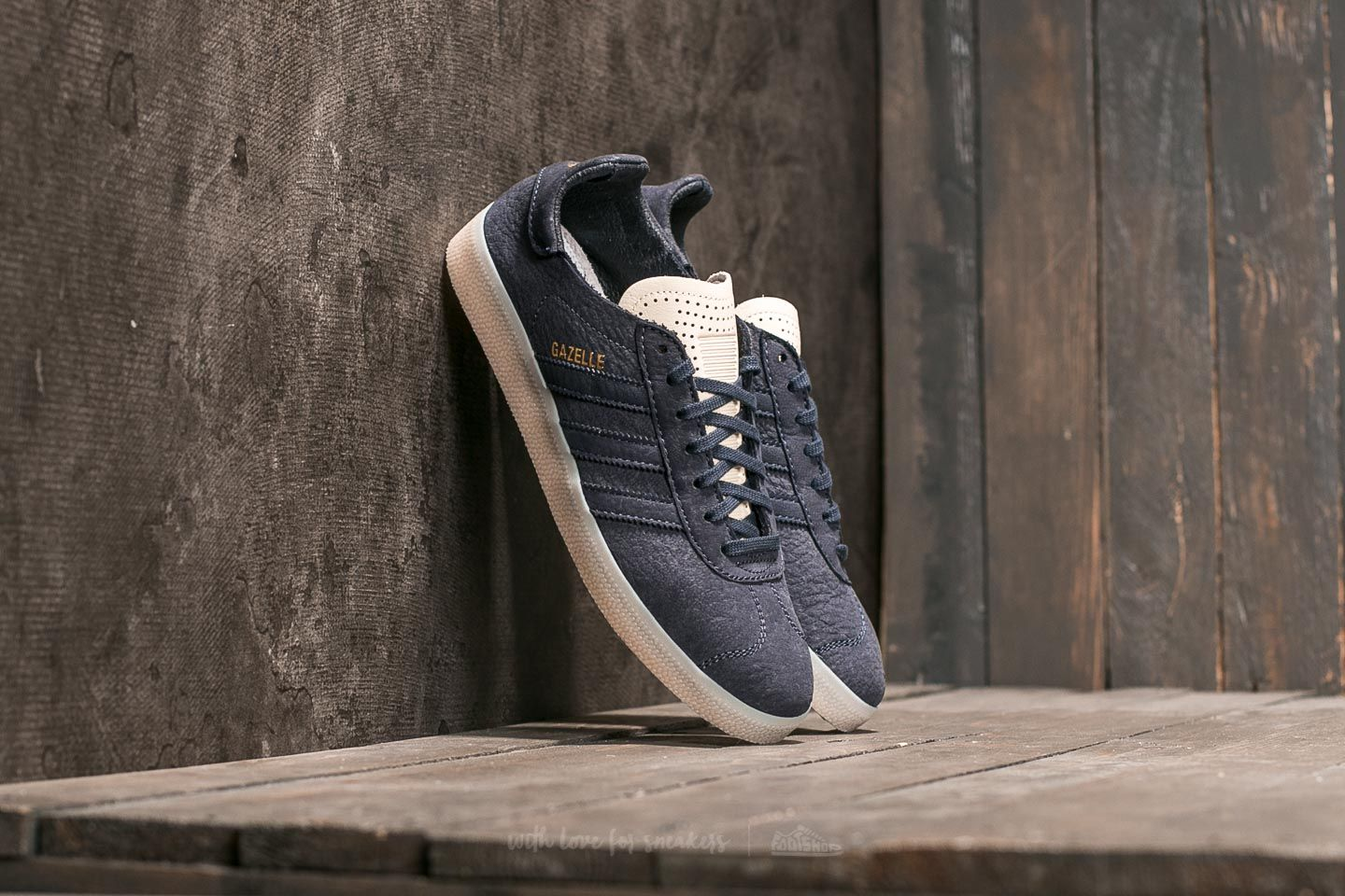 "Pánské tenisky a boty adidas Gazelle ""Crafted Pack"" Supplier Colour/ Ftw White/ Gold Metallic"