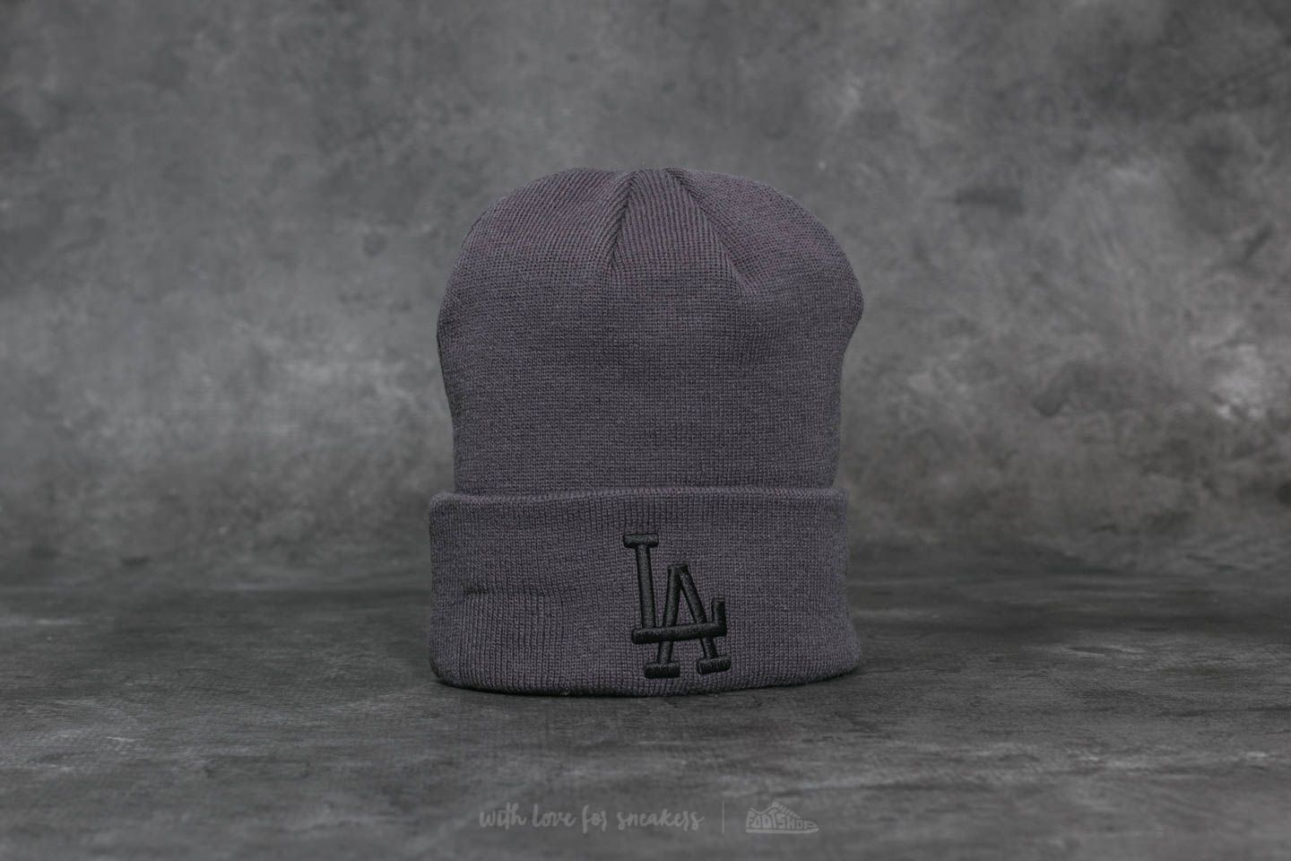 99a10f1aa7f New Era MLB League Essential Cuff Los Angeles Dodgers Beanie Grey at a  great price 15