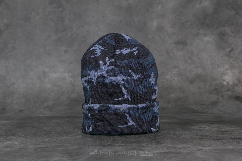New Era Camo Cuff Beanie Blue/ Black