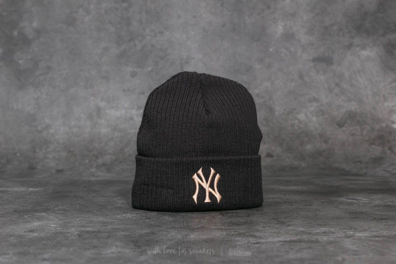 New Era MLB Club Coop Knit New York Yankees Beanie Black  b7187d58323