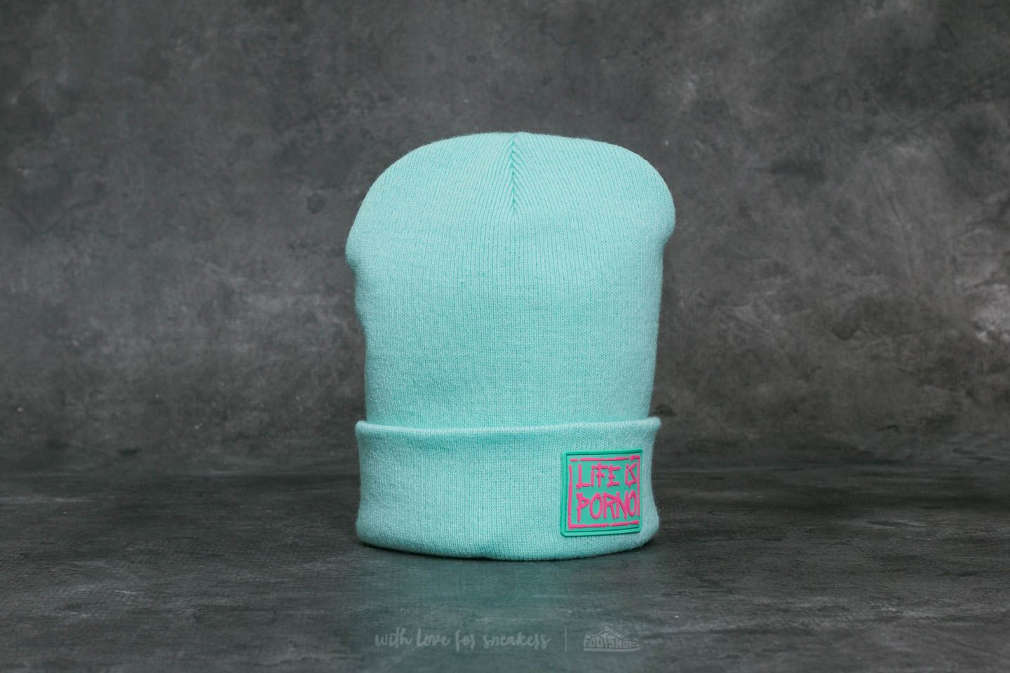 Life is Porno Taxi Beanie Turquoise