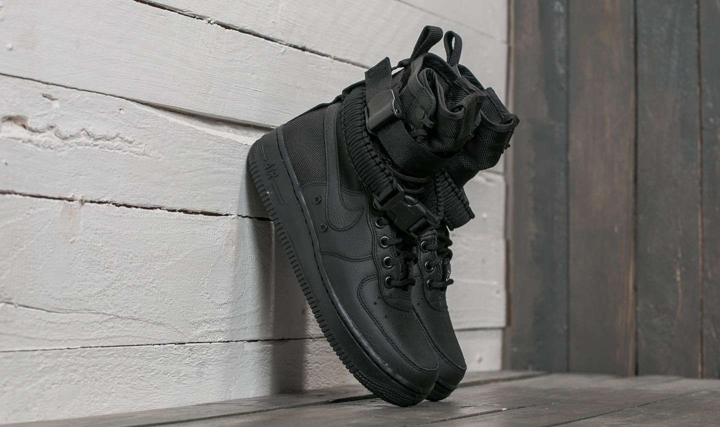 Nike Wmns SF Air Force 1 Black  Black-Black  711bef3aba95