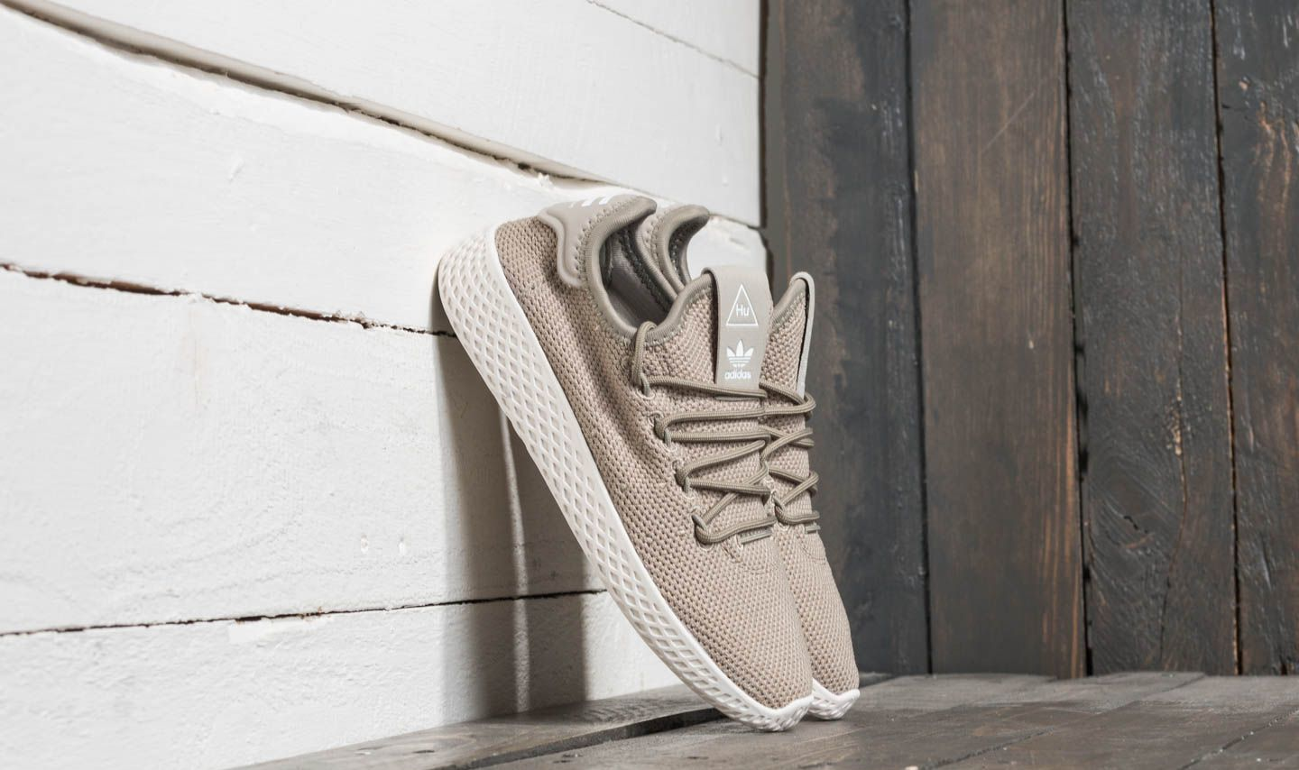 fb36fecd47472 adidas Pharrell Williams Tennis HU C Tech Beige  Tech Beige  Crystal ...